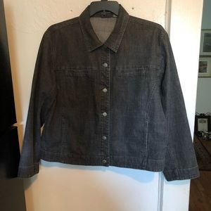 Additions by Chico's Black Jean Jacket